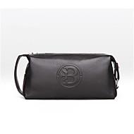 baratos Clutches & Bolsas de Noite-sacos masculinos couro zíper embreagem zíper preto / marrom