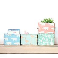 billige Lagring og oppbevaring-Stoff Rektangulær Kreativ / Bedårende Hjem Organisasjon, 1pc Oppbevaringskasser