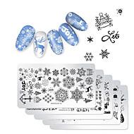 5pcs Nail Art Drill Kit Øko Venlig / Multifunktionel / Bedste kvalitet Totem Serier Negle kunst Manicure Pedicure Rustfrit Stål Trendy / Mode Jul / Festival
