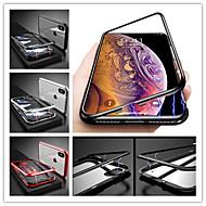 hoesje Voor Apple iPhone X Schokbestendig / Magnetisch Achterkant Effen Hard Gehard glas voor iPhone X / iPhone 8 Plus / iPhone 8