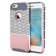 billiga Mobil cases & Skärmskydd-BENTOBEN fodral Till Apple iPhone 6 Plus / iPhone 6s Plus Stötsäker / Mönster Skal Linjer / vågor Hårt TPU / PC för iPhone 6s Plus / iPhone 6s / iPhone 6 Plus