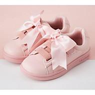 baratos Sapatos de Menina-Para Meninas Sapatos Couro Ecológico Primavera & Outono Conforto Tênis para Infantil / Adolescente Branco / Rosa claro