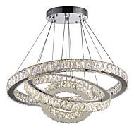رخيصةأون -دائري نجفات ضوء سفل مطلي معدن كريستال, LED 110-120V / 220-240V أبيض دافئ / أبيض بارد وشملت مصدر ضوء LED / LED متكاملة