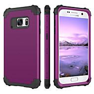 BENTOBEN Case สำหรับ Samsung Galaxy S7 Shockproof ตัวกระเป๋าเต็ม สีพื้น Hard ซิลิโคน / พีซี สำหรับ S7