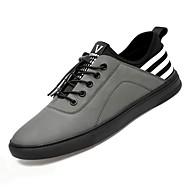 baratos Sapatos de Tamanho Pequeno-Homens Sapatos Confortáveis Lona Outono Tênis Preto / Cinzento