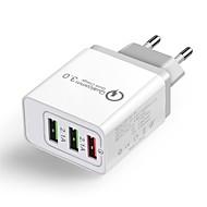 billiga Mobil cases & Skärmskydd-Cwxuan Laddningsskal USB-laddare EU-kontakt Flerutgång / QC 3,0 3 USB-portar 2.1 A 100~240 V för iPhone X / iPhone 8 Plus / iPhone 8