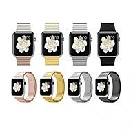 billiga Smart klocka Tillbehör-Klockarmband för Apple Watch Series 4/3/2/1 Apple Klassiskt spänne Rostfritt stål Handledsrem