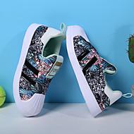 baratos Sapatos de Menino-Para Meninos / Para Meninas Sapatos Couro Ecológico Primavera & Outono / Primavera Conforto Tênis Caminhada Flor / Combinação para Infantil Fúcsia / Rosa claro / Verde Claro