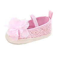 baratos Sapatos de Menino-Para Meninos / Para Meninas Sapatos Tricô Primavera & Outono Conforto / Primeiros Passos Rasos Flor / Elástico para Bebê Cinzento / Vermelho / Rosa claro
