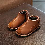 baratos Sapatos de Menino-Para Meninos / Para Meninas Sapatos Couro Ecológico Inverno / Outono & inverno Coturnos Botas Caminhada Ziper para Infantil Preto / Vermelho / Castanho Escuro / Botas Cano Médio