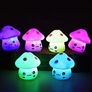 billige Lamper-1pc ledet natt lys fargerik sopp rom skrivebord nattbord lampe for baby barn julegaver tilfeldig farge