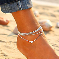 Per donna Filo singolo braccialetto alla caviglia - Romantico Gioielli Bianco Per Strada Per uscire