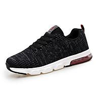 baratos Sapatos Masculinos-Homens Sapatos Confortáveis Tricô Outono Esportivo / Casual Tênis Corrida Massgem Preto / Cinzento