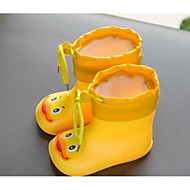 baratos Sapatos de Menina-Para Meninos / Para Meninas Sapatos Borracha Primavera & Outono Conforto / Botas de Chuva Botas para Bébé Amarelo / Azul / Rosa claro / Botas Curtas / Ankle