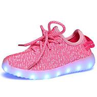 baratos Sapatos de Menina-Para Meninas Sapatos Tule Verão Conforto / Tênis com LED Tênis Caminhada LED para Vermelho / Rosa claro / Azul Real / Borracha