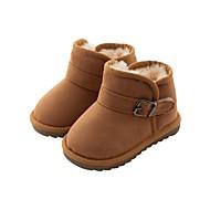 baratos Sapatos de Menino-Para Meninos / Para Meninas Sapatos Camurça Inverno Conforto / Botas de Neve Botas para Bébé Preto / Rosa claro / Camel / Botas Curtas / Ankle