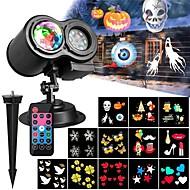 baratos Focos-KWB 1pç 12 W Focos de LED Impermeável / Controlado remotamente / Regulável Multicolorido 100-240 V Iluminação Externa / Pátio / Jardim 12 Contas LED