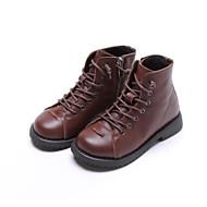 baratos Sapatos de Menina-Para Meninos / Para Meninas Sapatos Pele Inverno Coturnos Botas Ziper / Cadarço para Infantil Preto / Marron