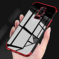 Pouzdro Uyumluluk OnePlus OnePlus 6 / OnePlus 5T Kaplama / Şeffaf Arka Kapak Solid Yumuşak TPU için OnePlus 6 / OnePlus 5T