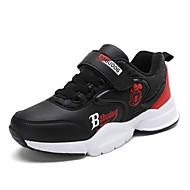 baratos Sapatos de Menino-Para Meninos Sapatos Sintéticos Primavera Verão / Outono & inverno Conforto Tênis Velcro para Infantil Cinzento / Preto / Vermelho / Azul Real