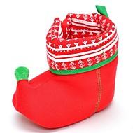 baratos Sapatos de Menina-Para Meninos / Para Meninas Sapatos Algodão Inverno Primeiros Passos Botas Velcro para Bebê Vermelho / Botas Curtas / Ankle