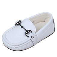 tanie Obuwie chłopięce-Dla chłopców / Dla dziewczynek Obuwie Skóra nappa Wiosna i jesień Wygoda / Mokasyny Mokasyny i buty wsuwane na Dzieci Biały / Czarny