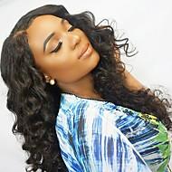 Remy kosa Netretirana  ljudske kose Lace Front Perika stil Brazilska kosa Wavy Valovita kosa Perika 130% Gustoća kose s dječjom kosom Prirodna linija za kosu Afro-američka perika Za crnkinje