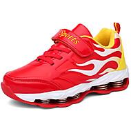 baratos Sapatos de Menina-Para Meninas Sapatos Sintéticos Primavera & Outono Conforto Tênis Corrida Cadarço / Colchete para Infantil / Adolescente Vermelho / Azul