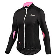 SANTIC Women's Cycling Jacket Bike Top Thermal / Warm Windproof Breathable Sports Solid Colored Elastane Pink Mountain Bike MTB Road Bike Cycling Clothing Apparel Bike Wear / Stretchy