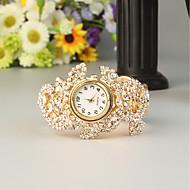 billige Quartz-FEIS Dame Armbåndsur Quartz Kronograf Legering Bånd Analog-digital Mode Guld - Gyldent