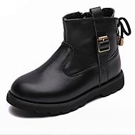baratos Sapatos de Menino-Para Meninos Sapatos Pele Outono & inverno Curta / Ankle Botas Ziper para Infantil / Adolescente Preto / Marron