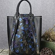 Χαμηλού Κόστους Τσάντες-γυναικείες τσάντες Nappa δέρμα tote λουλούδι κόκκινο / μπλε