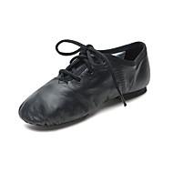 billiga Dansskor-Pojkar / Flickor Moderna skor Läder Platta Platt klack Dansskor Svart