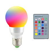 2W 2700-7000 lm E14 E26/E27 Lampe LED de Scène 1 diodes électroluminescentes LED Haute Puissance Décorative Commandée à Distance RVB AC