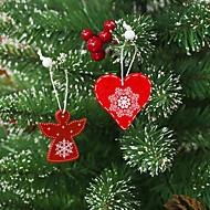 billiga Heminredning-Holiday Decorations Julpynt juldekoration Dekorativ Vit / Röd / Mörkröd 12st