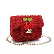 cheap Kids' Bags-Women's Bags Faux Fur Kids' Bag Fruit Red / Pink / Coffee