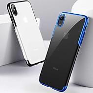 billiga Mobil cases & Skärmskydd-fodral Till Apple iPhone XR / iPhone XS Max Stötsäker / Plätering / Ultratunt Skal Enfärgad Mjukt TPU för iPhone XS / iPhone XR / iPhone XS Max