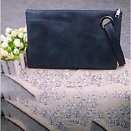 baratos Clutches & Bolsas de Noite-Mulheres Bolsas PU Bolsa de Mão Ziper Cinzento / Marron / Azul Céu