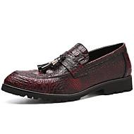 baratos Sapatos Masculinos-Homens Sapatos formais Couro Ecológico Outono Negócio Mocassins e Slip-Ons Respirável Preto / Vinho / Casamento