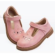 baratos Sapatos de Menina-Para Meninas Sapatos Pele Primavera Verão / Outono & inverno Sapatos para Daminhas de Honra / Solados com Luzes Tênis Vazados / Velcro para Infantil Preto / Marron / Rosa claro