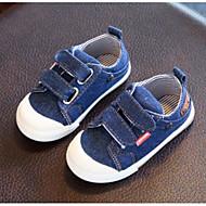 baratos Sapatos de Menina-Para Meninos / Para Meninas Sapatos Lona Primavera Verão Conforto Tênis Velcro para Bébé Azul Escuro / Azul Claro