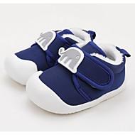 baratos Sapatos de Menina-Para Meninos / Para Meninas Sapatos Algodão Inverno Primeiros Passos Tênis Velcro para Bebê Rosa claro / Azul Claro / Vinho
