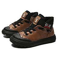 baratos Sapatos de Menino-Para Meninos Sapatos Pele Inverno Botas de Neve / Coturnos Botas Cadarço para Infantil Preto / Marron / Vermelho