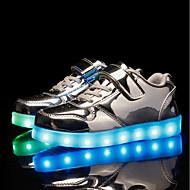tanie Obuwie chłopięce-Dla chłopców / Dla dziewczynek Obuwie PU Jesień i zima Świecące buty Adidasy LED na Złoty / Srebrny / Różowy