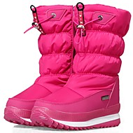 baratos Sapatos de Menina-Para Meninas Sapatos Jeans / Sintéticos Inverno Botas de Neve / Botas da Moda Botas para Infantil / Adolescente Branco / Preto / Rosa claro / Botas Cano Médio