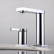 Χαμηλού Κόστους Βρύσες Νιπτήρα Μπάνιου-Μπάνιο βρύση νεροχύτη - Εκτεταμένο / Νεό Σχέδιο Χρώμιο Montaj Punte Ενιαία Χειριστείτε δύο τρύπες