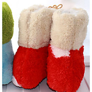 baratos Sapatos de Menina-Para Meninos / Para Meninas Sapatos Camurça / Couro Ecológico Outono / Inverno Conforto Rasos para Bébé Vermelho