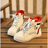 baratos Sapatos de Menina-Para Meninos / Para Meninas Sapatos Sintéticos Primavera & Outono Conforto Tênis Corrida Cadarço para Infantil Branco / Preto / Estampa Colorida