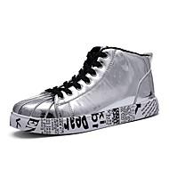 abordables Baskets pour Homme-Homme Chaussures de confort Cuir Verni / Matière synthétique Printemps été Décontracté Basket Respirable Or / Noir / Argent