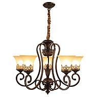 billige Takbelysning og vifter-Ecolight™ 5-Light Lysekroner Omgivelseslys Malte Finishes Metall Glass Stearinlys Stil 110-120V / 220-240V / E26 / E27